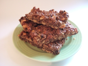 Chocolate and peanut flapjacks