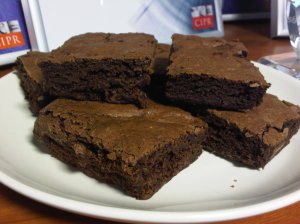 Ultimate Chocolate Brownies, low fat with mayonnaise