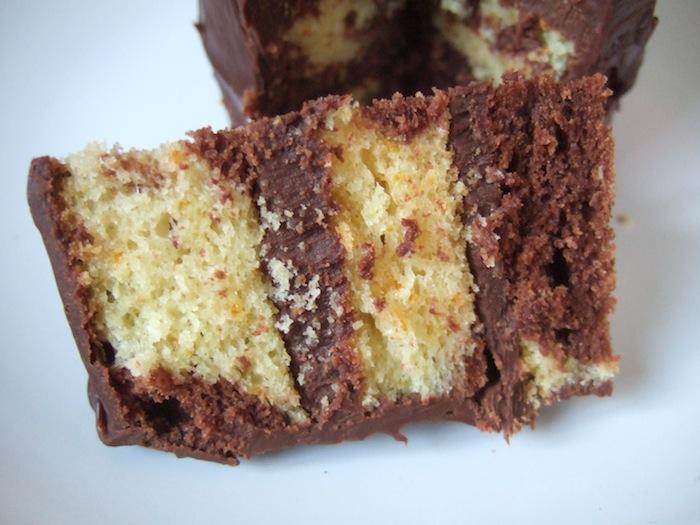 Chocolate cake with chocolate orange ganache