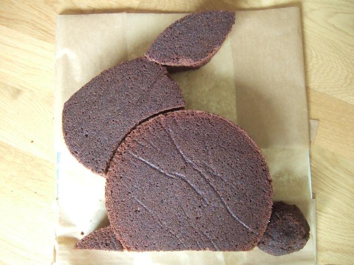 Bunny Shaped Cake Recipe
