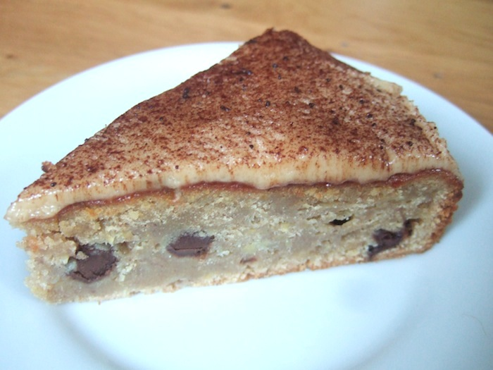 Chocolate chip banana cake with peanut butter icing ...