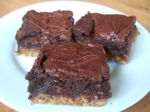 Oat based brownies
