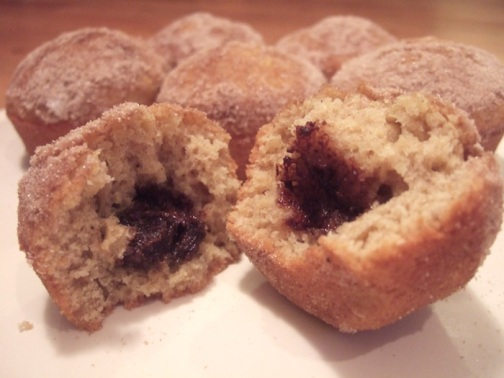 Nutella-filled cinnamon sugar muffins