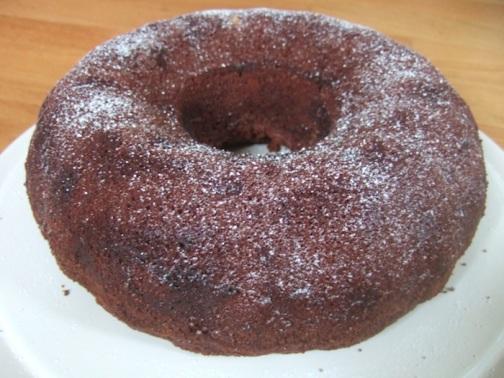Frangipane chocolate bundt cake
