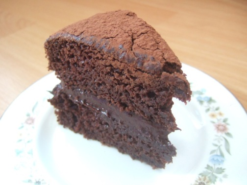 Avocado chocolate fudge cake