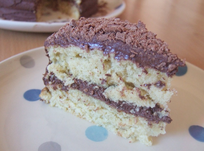 Coconut Rum Cake With Chocolate Frosting