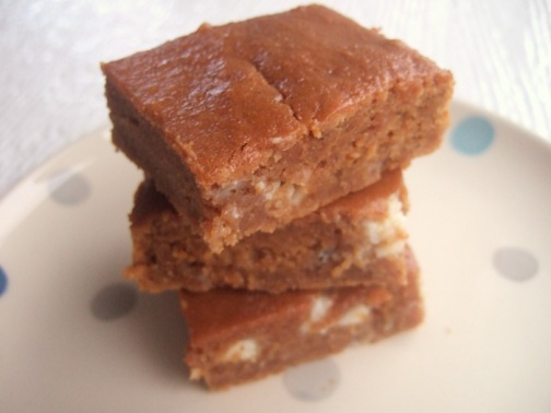 Autumn spiced butternut blondies